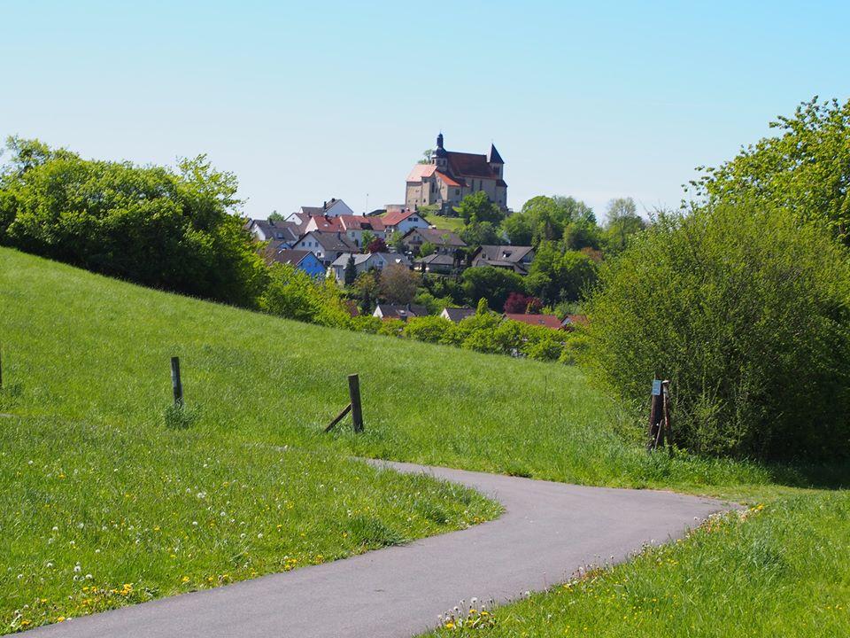 Petersberg mit Blick auf Liobakirche